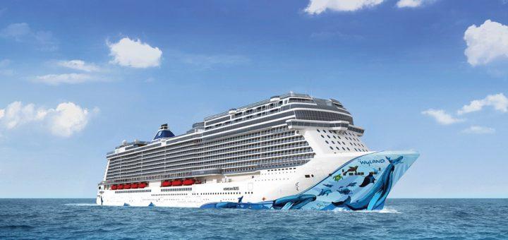 """Morgen, am Donnerstag, kommt sie nach Bremerhaven: die """"Norwegian Bliss"""". An Bord sind nur der Kapitän und seine Mannschaft. Dabei wäre Platz für knapp 4.000 Passagiere. Das Schiff ist speziell für Alaska-Kreuzfahrten konzipiert. Foto: NCL"""