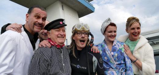 Das Golden City-Team um Frauke Wilhelm (rechts) freut sich auf die neue Saison am Lankenauer Höft. Foto: Suhren