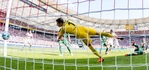 Chancenlos beim 0:1 Werder-Schlussmann Jiri Pavlenka Foto: Nordphoto