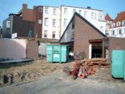 Die Aufnahme der Abrissarbeiten entstand am 5. November 2003. Foto: Stadtarchiv Delmenhorst, Simone Mövens