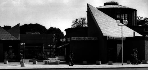 """Das Delme-Zentrum polarisierte. Seine Bewertungen reichten von """"ungewohnt und gewöhnungsbedürftig"""" bis hin zu """"ein gelungener architektonischer Akzent"""". Foto: Stadtarchiv Delmenhorst"""