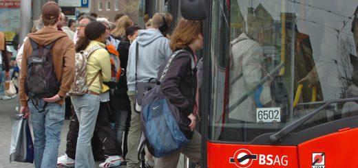 Der Verkehrsverbund Bremen/Niedersachsen meldet leichten Anstieg der Fahrgastzahlen. Foto: Schlie