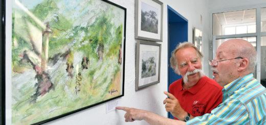 Heiner Geldmacher hat die Fotografien von Hans Münch für seine Gemälde benutzt. Foto: Konczak