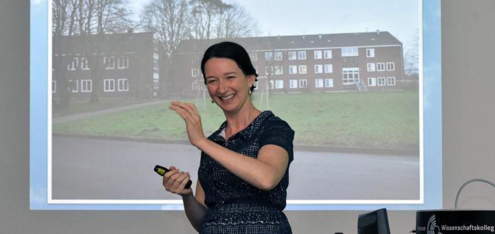 Ailbhe Kenny hat erste Forschungsergebnisse im HWK vorgestellt. Foto: Konczak