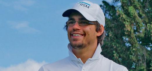 Ist auf einem guten Weg: Golfprofi Hinrich Arkenau Foto: Nordphoto