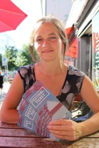 """Eine von fünf Hauptorganisatoren des """"dreizehn°-Festivals"""": Katrin Windheuser. Foto: Harm"""