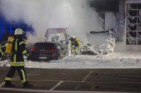 Die Feuerwehr konnte den Brand schnell löschen. Foto: Günther Richter
