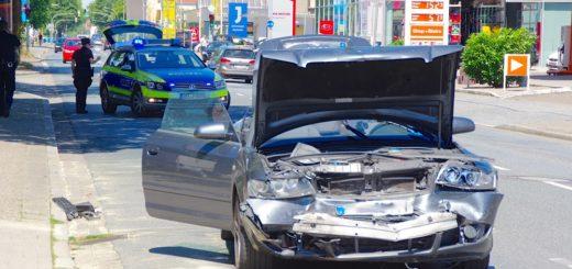 Die Polizei schätzt den Schaden am Audi auf rund 10.000 Euro. Foto: gri
