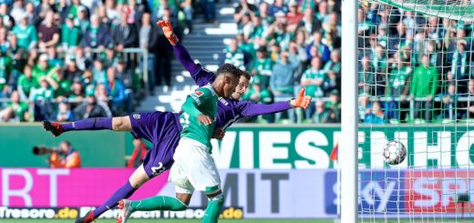 Theodor Gebre Selassie trifft zum 1:1 gegen Hannover.