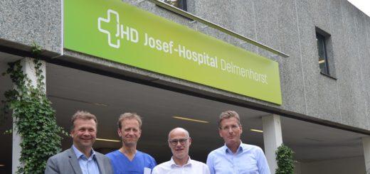 Freuen sich über die neue Kooperation: Florian Friedel, Klaus Gutberlet, Götz Buchwalsky und Matthias Viemann (von links).Foto: pv