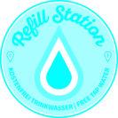 Dieses Logo kennzeichnet die Refill-Stationen. Foto: Refill