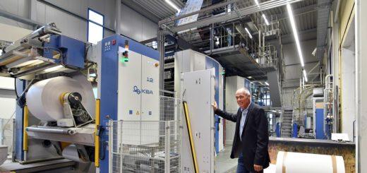 Gerhard Tapken im Druckhaus Delmenhorst