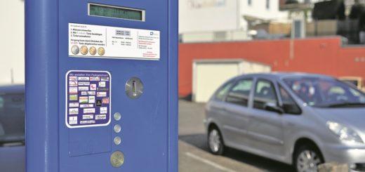 Foto eines Parkscheinautomatens in Delmenhorst.