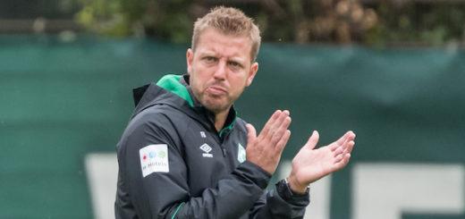 Sagt wo es lang geht: Werder-Trainer Florian Kohfeldt Foto: Nordphoto