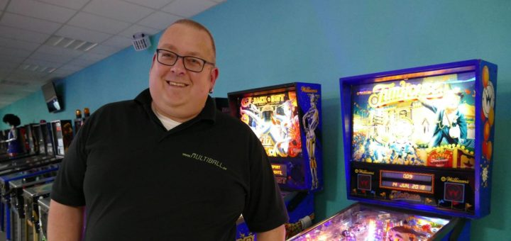 "Stefan Vesterling hat 2016 den Flipper-Laden ""Multiball"" in Langwedel eröffnet. Foto: Beinke"