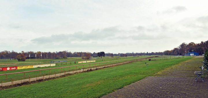 Blick über die herbstliche Rennbahn an der Ludwig-Roselius-Allee Foto: Schlie