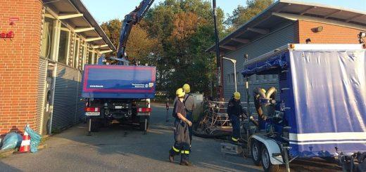 Ein Einsatz, von dem die Öffentlichkeit wenig mitbekommen hat: Nachdem im August im Klärwerk Farge mehrere Pumpen ausgefallen waren, war der hiesige THW-Ortsverband im Einsatz. Foto: THW