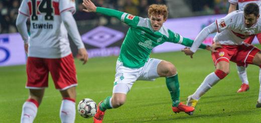 Ohne eine einzigen Torschuss: Werder-Stürmer Josh Sargent Foto: Nordphoto