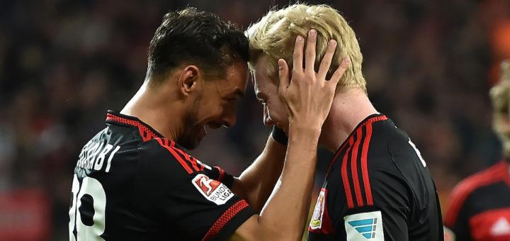 Können ein Spiel allein entscheiden: Karim Bellarabi (links) und Julian Brandt. Foto: Nordphoto