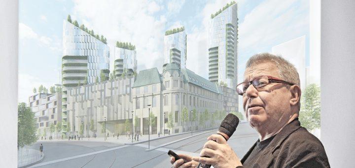 Architekt Daniel Libeskind, Sparkassen-Areal Am Brill Fotomontage: Schlie/Visualisierung: Studio Libeskind