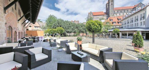 Besser geht es nicht: Das Hotel Schlossmühle befindet im Herzen der Unesco-Weltkulturerbe-Stadt Quedlinburg. Foto: Best Western Hotel Schlossmühle