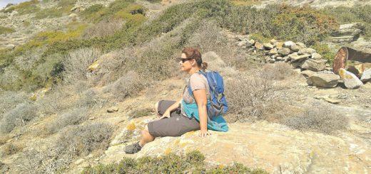 Regina Sommer freut sich auf ihre zweite Saison als Wanderführerin. Die Bremerin veranstaltet Wanderreisen auf die griechische Insel Amorgos. Foto: pv