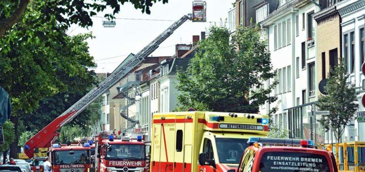 Feuerwehreinsatz am Sielwall