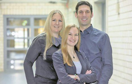 Nina Winter, Meike Spiekermann und Arlo Radtke (v.l.n.r.) von Mirdetect. Foto: Starthaus/Frank Pusch