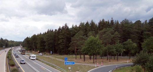 Autobahnbaustelle bei Verden