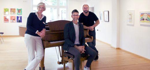 """Dr. Wiebke Steinmetz, Thorsten Ahlrichs und Stefan Lindemann freuen sich über die zunehmende Resonanz auf das Konzert-Format """"4x4"""". Foto: nba"""