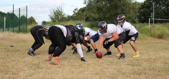 Football ist ein Spiel um Raumgewinn und geprägt von viel Taktik. Die Badgers spielen in der Regionalliga Nord und möchten gerne in die zweite Liga. Foto: Harm