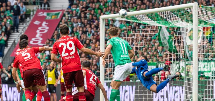 Gegen Düsseldorf kassierte Werder eine Pleite - gegen Ausgburg soll jetzt ein Dreier her. Foto: Nordphoto