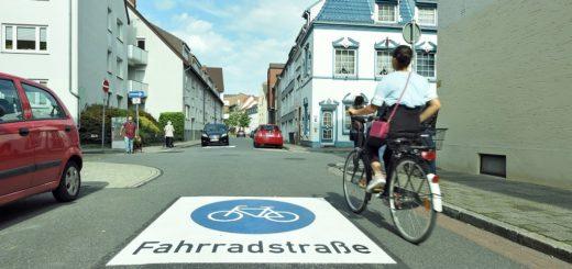 Fahrradstraßen Piktogramm Neustadt, Foto: Schlie