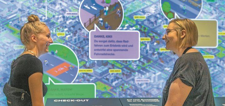"""Die Ausstellung """"Der mobile Mensch"""" im Universum Bremen zeigt interaktiv eine mögliche emissionsfreie Zukunft. Fotos: Universum Bremen"""