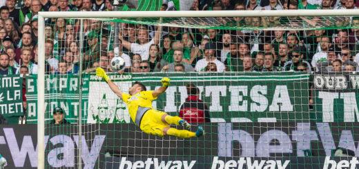 Werder-Keeper Jiri Pavlenka hatte eigentlich gar nicht so viel zu tun, trotzdem schlug es dreimal ein. Foto: Nordphoto