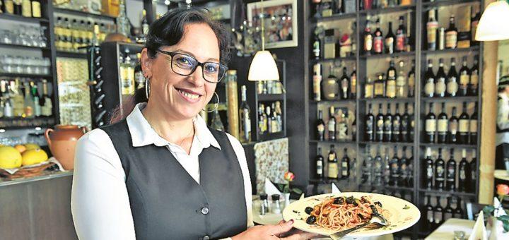 Guter Service: Mariella Iannozzi im Da Rocco.Foto: Schlie