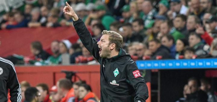 Warnt vor dem Außenseiter: Werder-Coach Florian Kohfeldt Foto: Nordphoto