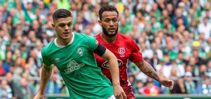 Bei seinem Comeback beim 2:2 gegen den BVB, gelang Milot Rashica (links) gleich ein Treffer. Foto: Nordphoto