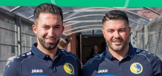 Samet Deli (re.) betreut die erste Mannschaft des BSC gemeinsam mit seinem Bruder Gökhan, der auch Sportlicher Leiter ist. Foto: Nordphoto