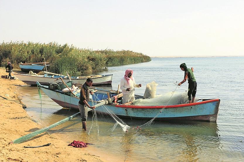 Am Lake Quaroun ernähren sich viele Familien noch vom Fischfang im See.