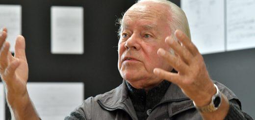 """Eine Ausstellung im Haus Coburg würdigt die Arbeit des Komponisten Hans-Joachim Hespos. Morgen, zum 11.11., wird es dann wieder musikalisch unbequem im Theater """"Kleines Haus"""". Foto: Konczak"""