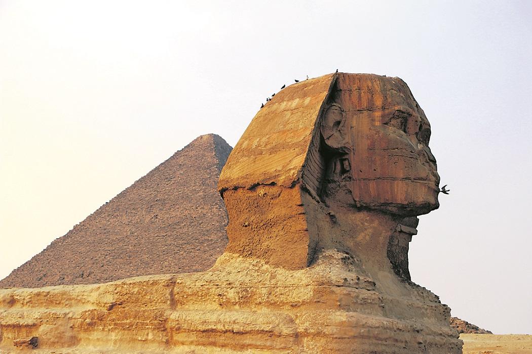 Der Sphinx ist eines der Markenzeichen der Pyramiden von Gizeh und außerdem auch bei den Ägyptern ein beliebtes Fotomotiv.
