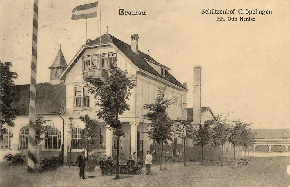 Die Ansichtskarte zeigt den Schützenhof im Jahre 1912.Foto: Archiv Focke Museum