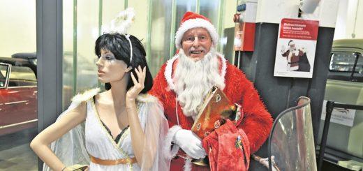 Bei der Agentur für Arbeit kann man auch in diesem Jahr Weihnachtsmänner wie Fred buchen. Foto: Schlie