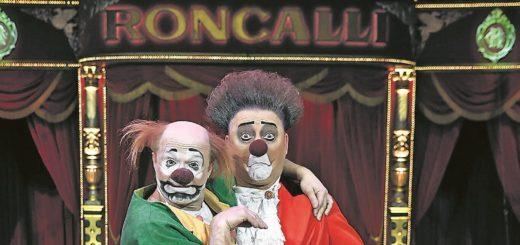 Ein echtes Dream-Team: Die Clowns Eddy Neumann und Anatoli Akermann (grünes Sakko). Foto: Roncalli