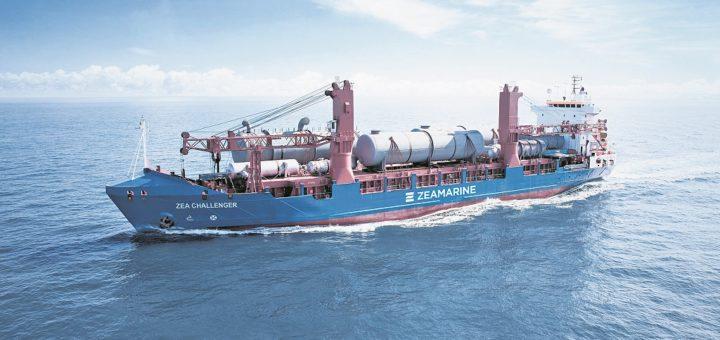 """Die """"Zea Challenger"""" fährt für die Zeaborn-Tochter Zeamarine. Zeaborn ist inzwischen Bremens größte Reederei, Hauptgesellschafter ist Kurt Zech, kleinere Anteile halten die Mitgründer Jan-Hendrik Többe und Ove Meyer.Foto: Zeaborn"""