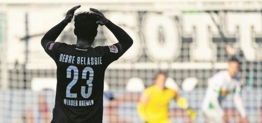 """""""Wir müssen jetzt liefern"""", fordert Bremens Defensivroutiner Theo Gebre Selassie von seinen Kollegen vor dem kommenden Heimspiel gegen schalke. Foto: Nordphoto"""