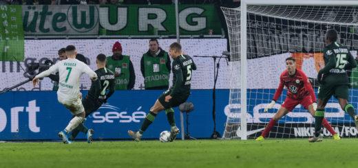 Milot Rashica trifft zum 3:2 gegen Wolfsburg
