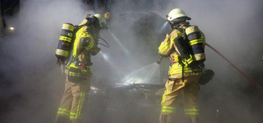 Heute Nacht stand an der Moritz-von-Schwind-Straße in Delmenhorst ein Auto in Flammen. Foto: Richter