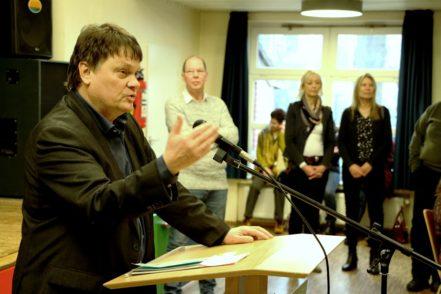 Finanzsenator Strehl kündigte an, dass die Koalition noch viel in Gröpelingen machen wolle. Foto: Bollmann